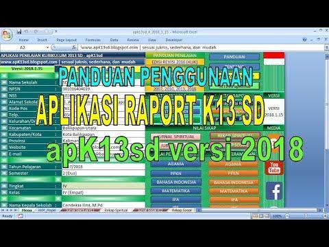 Aplikasi Raport K13 SD 2018