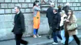 Уличный клоун Испании1 50 самый прикол