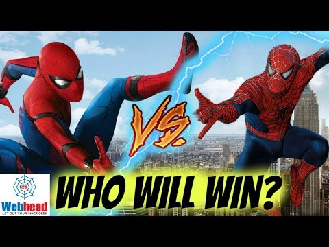 SpiderMan vs. SpiderMan  Tom Holland vs. Tobey Maguire  Who Will Win?  Webhead
