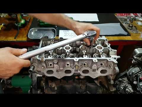Toyota 1SZ-FE Установка ГБЦ моменты затяжки