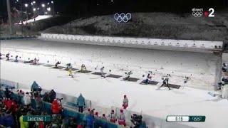 JO 2018 : Biathlon - Mass start hommes : Le 1er tir couché
