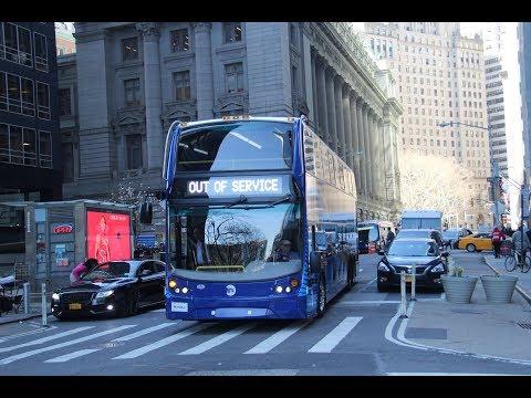 MTA Alexander-Dennis SuperLo Enviro500 demonstrator turning at Broadway and Pearl Street