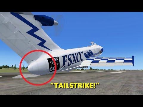 TAILSTRIKE on Landing - Pilot Declares Emergency! (FSX Multiplayer Trolling)
