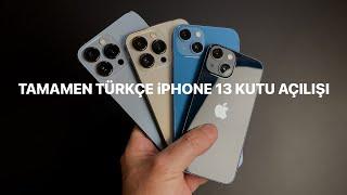 Tamamen Türkçe iPhone 13, 13 Mini, 13 Pro ve 13 Pro Max Kutu Açılışı / Sinematik Ve Makro Moda Bakış