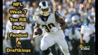 NFL Week 7 Top RB Picks Fanduel & Draftkings