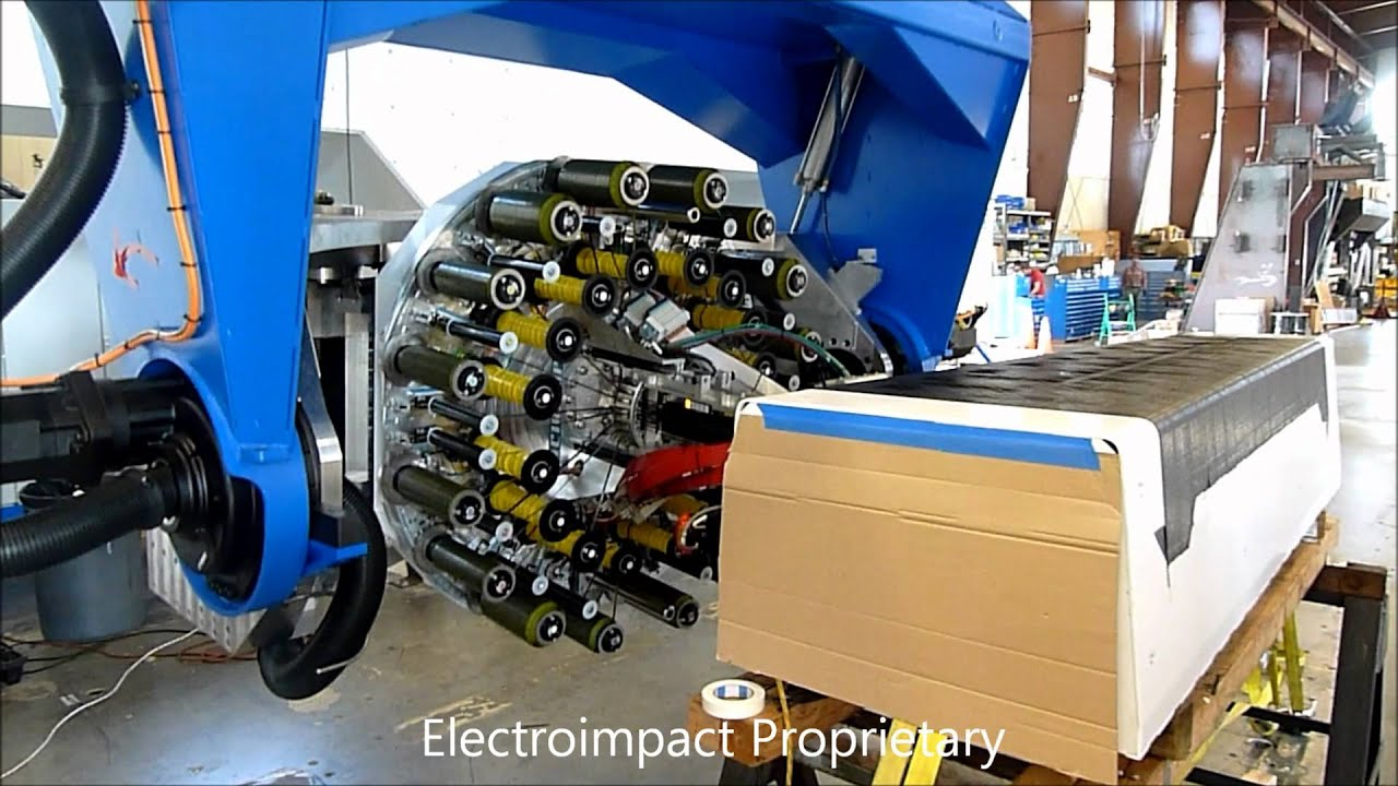 Automatic Fiber Placement Spar Layup Youtube