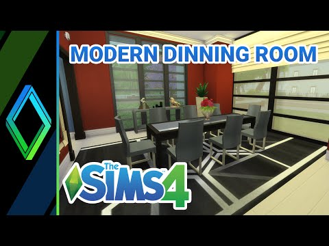 The Sims 4 Room Build - Modern Dining Room