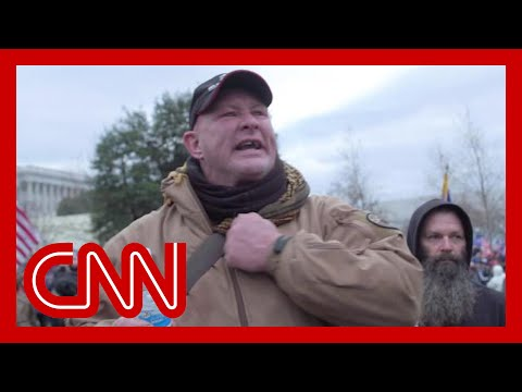 'What are we supposed to do?': Rioter speaks to CNN's Elle Reeve