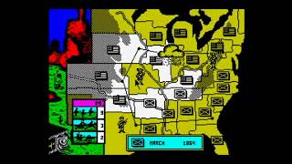 North & South (1991) Walkthrough (Hardest Level: All States Won) + Review, ZX Spectrum