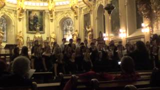 """Antiphonal Kyrie"" Woodstock Academy Combined Choir Performance 2-27-28"