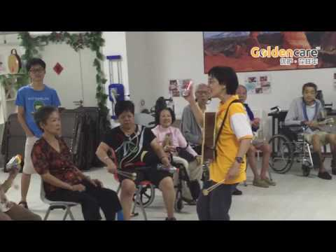 Rehabilitation activities and program by Music Therapy - ageing seniors elderly at Goldencare