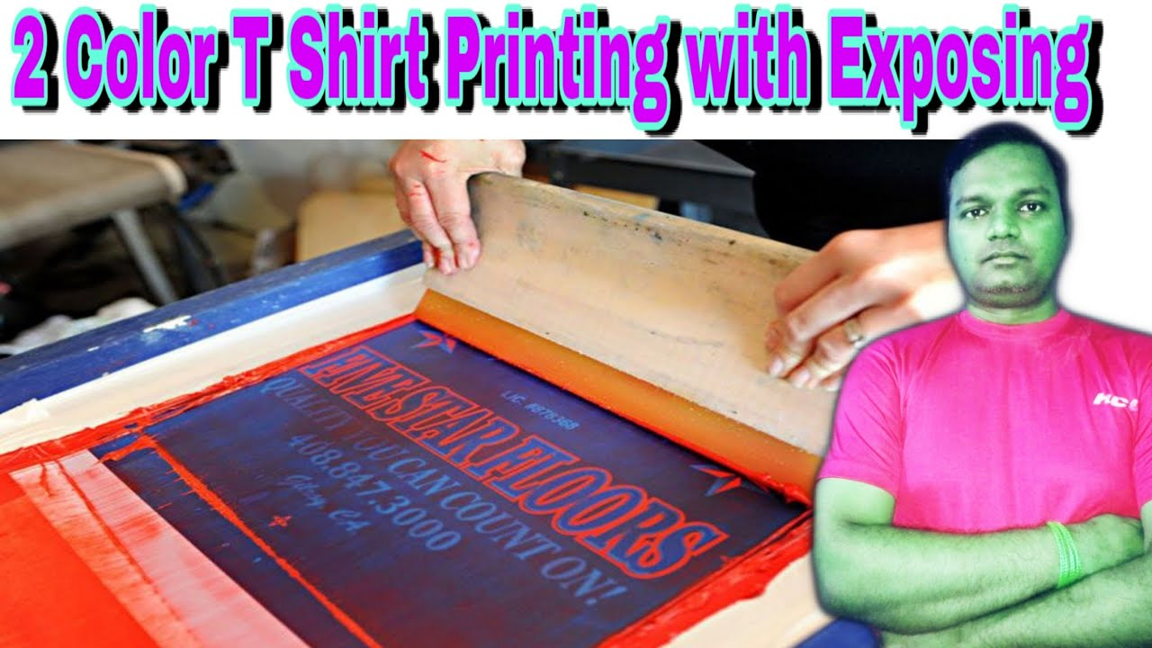 T Shirts Printing with two Colors II Customise Printing