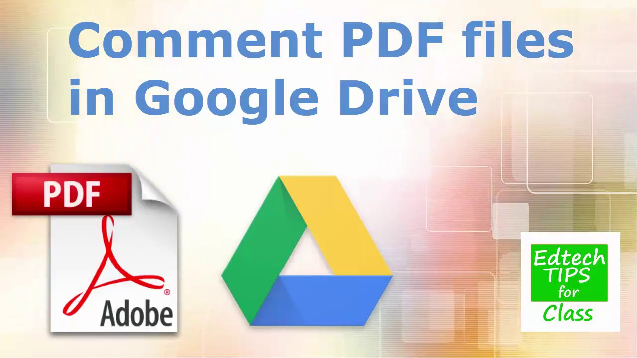 Add comments to your PDF files in Google Drive