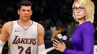 TELLING A REPORTER I WILL BE BETTER THAN LEBRON! NBA Live 18 The League #4
