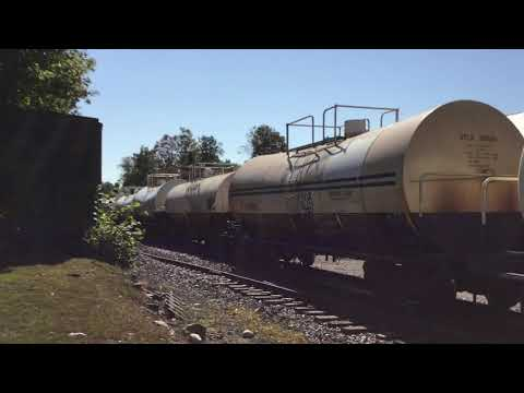 Vermont Rail System Freight passing Chester, VT