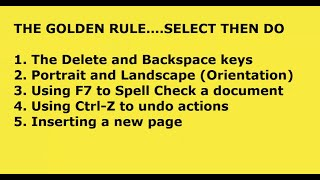 Word for ABSOLUTE beginners Part 2 Keyboard commands, Spell Check, document orientation and more