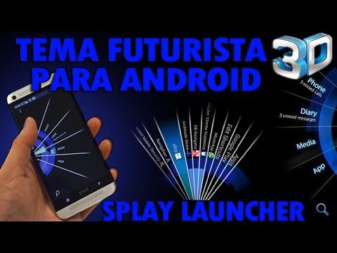Espectacular tema futurista para android splay launcher for Temas anime para android