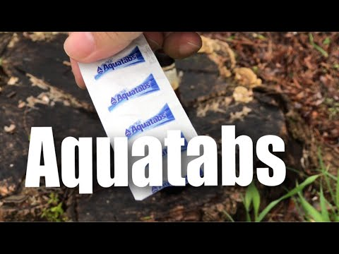 Aquatabs Water Purification Tablets test and review