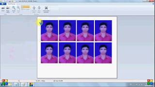 How to create passport size photo in Paint