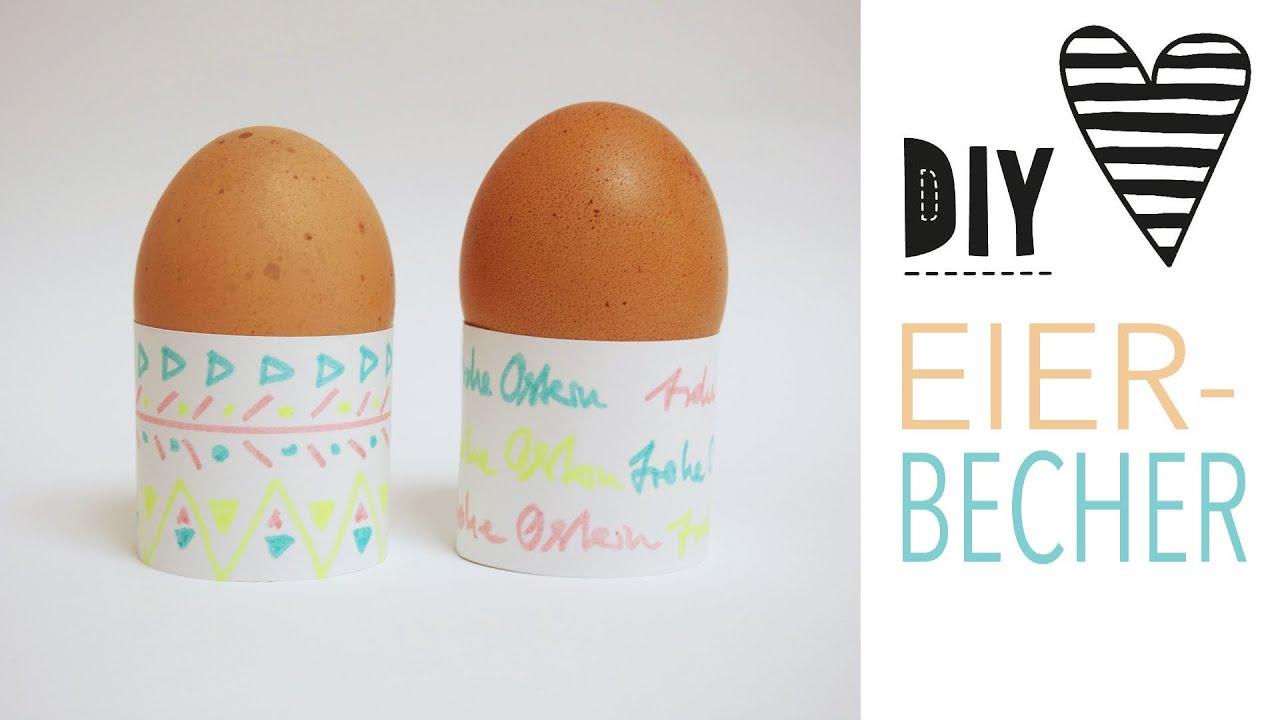 diy einfache eierbecher basteln 100 ideen f r ostern. Black Bedroom Furniture Sets. Home Design Ideas