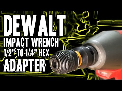 dewalt dw2298 impact wrench adapter 1 2 to 1 4 hex youtube. Black Bedroom Furniture Sets. Home Design Ideas