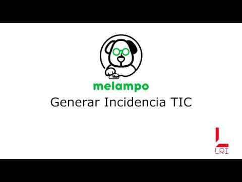 Generar incidencia TIC - Melampo