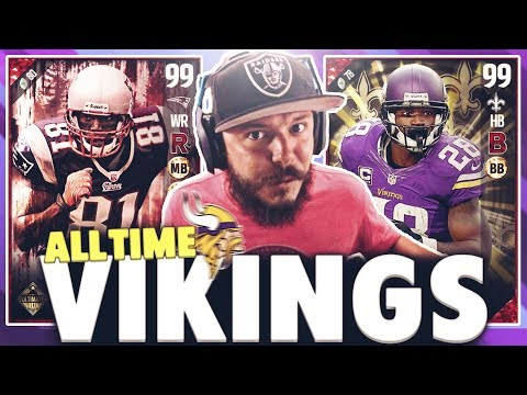 ALL TIME MINNESOTA VIKINGS SQUAD BUILDER AND GAMEPLAY - MADDEN 17 ULTIMATE TEAM