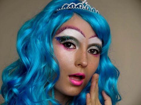 Halloween: Mermaid Princess Inspired Makeup Look # 2 - YouTube