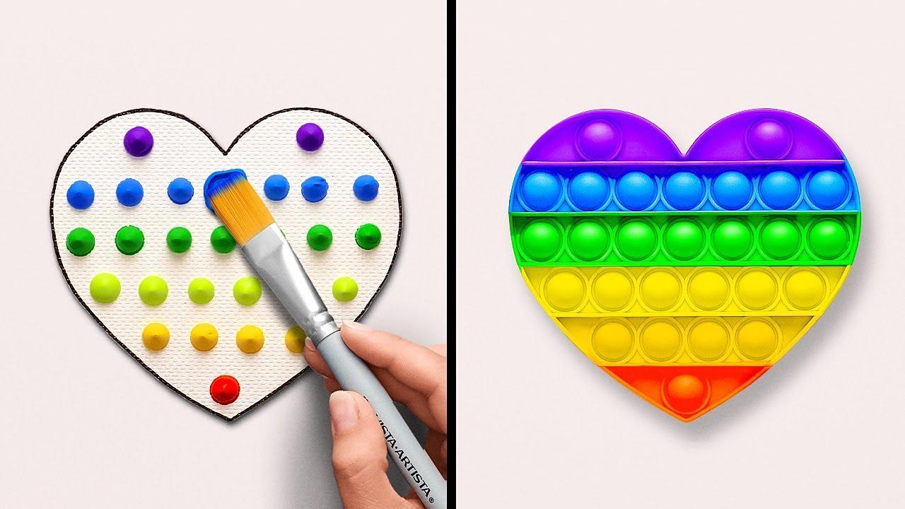 Завораживающие идеи для рисования || Создавайте произведения искусства с помощью необычных вещей