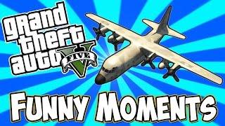 GTA 5 Online Funny moments - Titan glitch, Funny Explosions, Dump truck fun