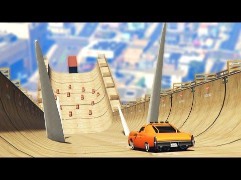 GIANT DEATH RAMP CHALLENGE! (GTA 5 Mod Challenge)
