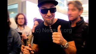Shavo Odadjian & John Dolmayan of SYSTEM OF A DOWN greet fans in Moscow airport 3.07.2017
