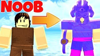 GIVING NOOBS THE BEST ARMOR IN BOOGA BOOGA! (ROBLOX)