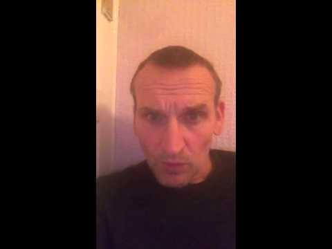 Video message from Christopher Eccleston to drwhodaniel