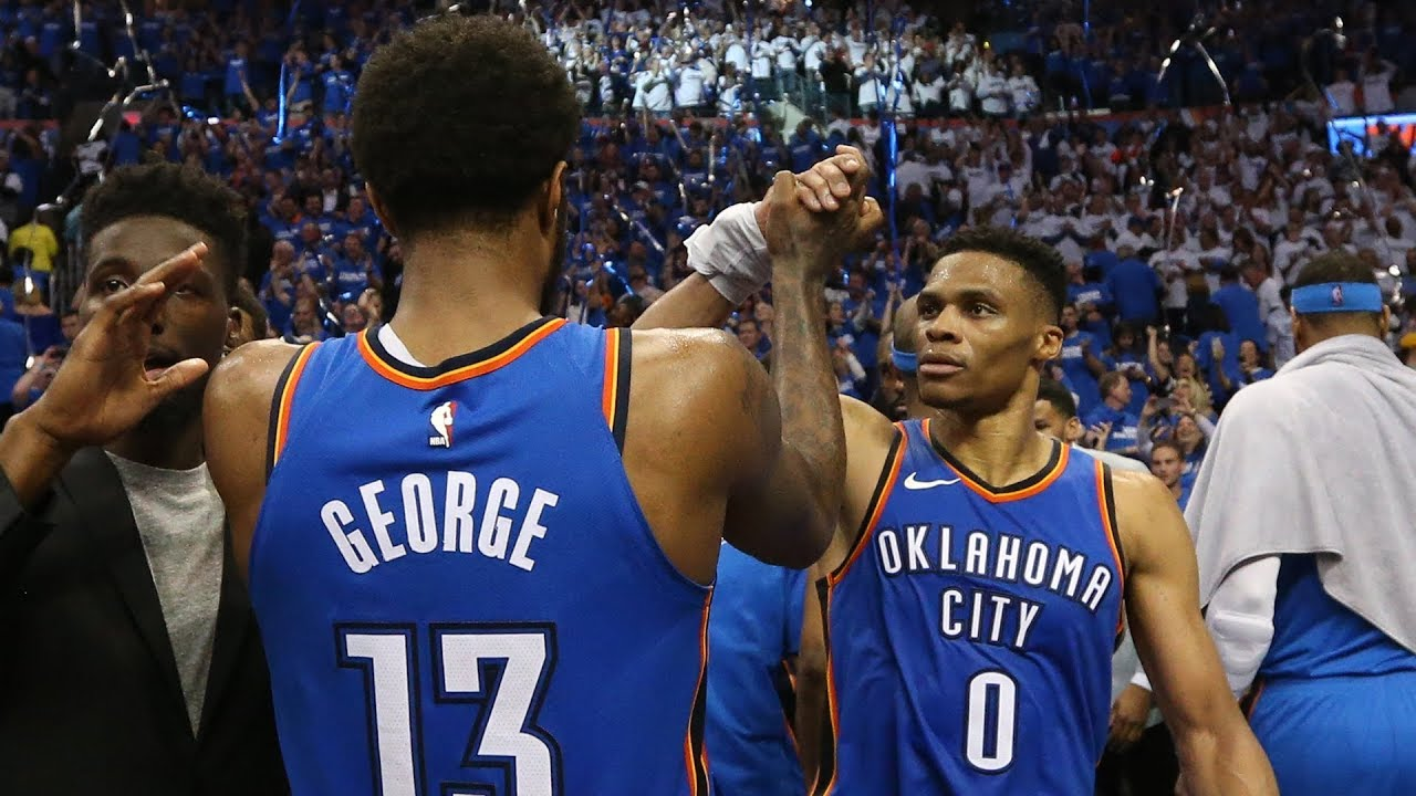 Video: Thunder's Steven Adams invades Russell Westbrook, Paul George All-Star ...