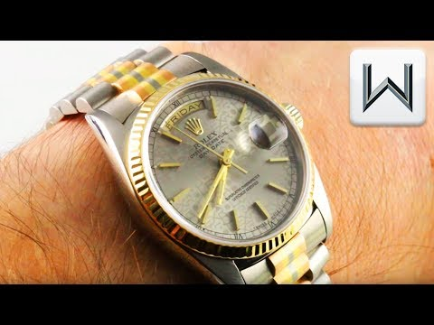 rolex-day-date-tridor-white/rose/yellow,-jubilee-dial-(18239)-luxury-watch-review