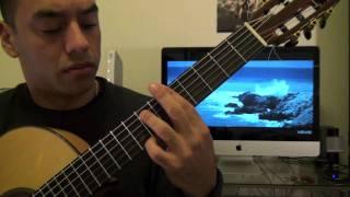 Marques Houston - Sunset guitar lesson Tutorial (Esteban Dias)