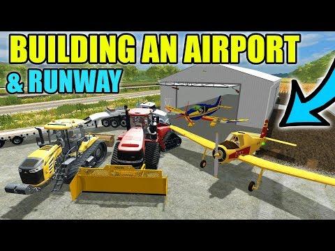 BUILDING AN AIRPORT W/ HANGERS & RUNWAY | FARMING SIMULATOR 2017