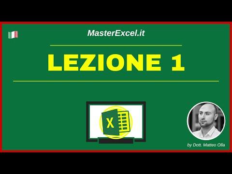 MasterExcel.it | Corso Excel: Lezione 1 - Impara ad usare Excel con i Corsi di MasterExcel.it