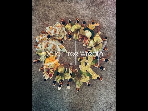 Dollar Tree Fall Wreath | DIY