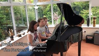 Emily, Caitlyn & Imogen performing The Fortress (Daniel McFarlane)