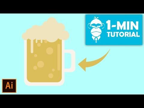 Flat Design Beer Glass - Illustrator Tutorial