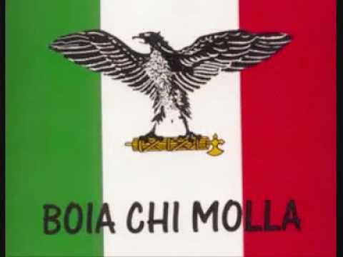 Boia chi molla (canzone) Ufficiale benito mussolini