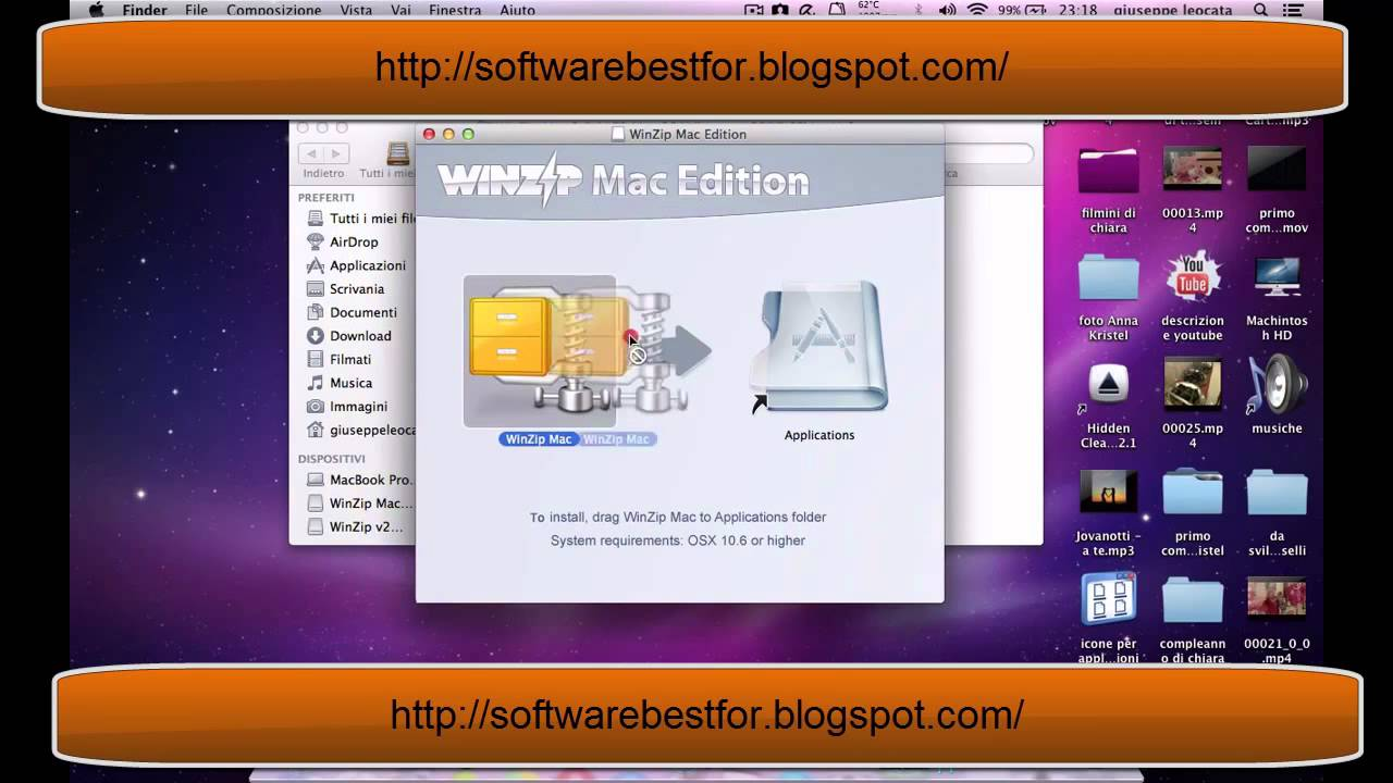 WinZip Mac 2 0 1172 Mac OS X download free