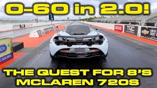 NEW Record in the McLaren 720S down the 1/4 Mile with 0-60 MPH in 2 Seconds!