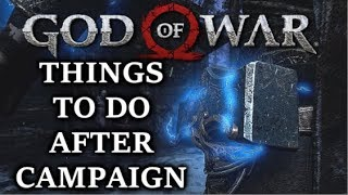 GOD OF WAR - What To Do After You Finish The Main Story? (Full Guide!)