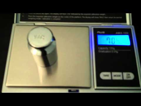 An American Silver Eagle Coin Weigh