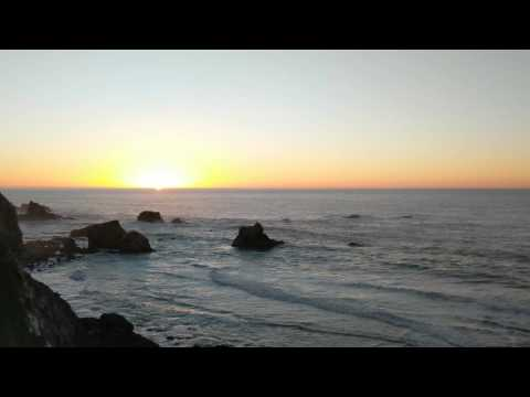 Sunset at beach in Big Sur shot on Google Pixel phone in 4k resolution