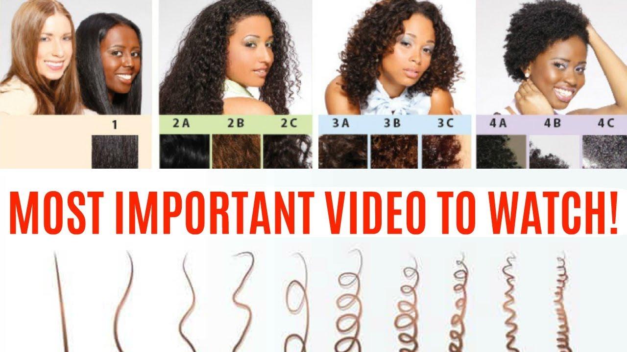 natural hair types & tips curl