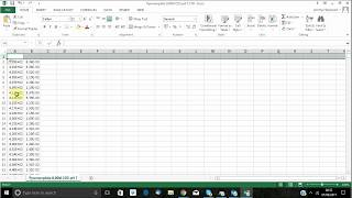 How to make a FTIR spectra in excel from a CSV file